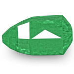 4.12-Carat Lively Green Briolette-Cut Emerald from Colombia