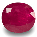 2.61-Carat IGI-Certified Unheated Dark Pinkish Red Burmese Ruby