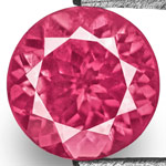 0.84-Carat VVS-Clarity Bright Pink Round-Cut Mahenge Spinel