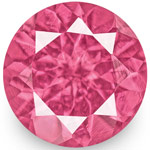1.27-Carat Pair of 5mm Round VS-Clarity Intense Pink Spinels