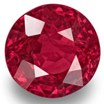 2.12-Carat Rare Unheated 7mm Round Fiery Rich Pinkish Red Ruby