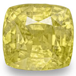 8.12-Carat Cushion-Cut Unheated Sri Lankan Yellow Sapphire (GIA)