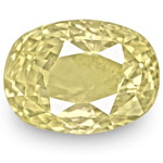 5.24-Carat GIA-Certified Unheated Oval-Cut Light Yellow Sapphire