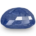 14.35-Carat Unheated Velvety Deep Blue Sapphire (GIA-Certified)
