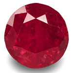 3.12-Carat 8mm Round GRS-Certified Unheated Tajikistan Ruby