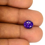 4.03-Carat Magical Bluish Violet Sapphire from Sri Lanka (GIA)