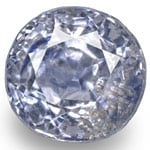 0.87-Carat 5mm Round GIA-Certified Unheated Kashmir Sapphire