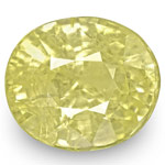 5.99-Carat Unheated Lustrous Intense Yellow Sapphire from Ceylon