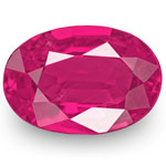 0.81-Carat IGI-Certified Natural & Untreated Oval-Cut Ruby