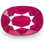 0.99-Carat Unheated Oval-Cut Rich Pinkish Red Mozambique Ruby
