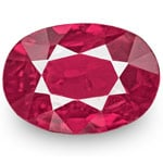 0.83-Carat IGI-Certified Unheated Deep Purplish Red Oval Ruby