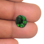 3.24-Carat Pair of Royal Green Trapiche Emeralds from Colombia