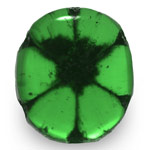 0.61-Carat Oval-Cut Deep Green Trapiche Emerald from Colombia