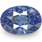 1.11-Carat IGI-Certified Unheated Deep Blue Sapphire from Ceylon