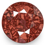 2.66-Carat 8mm Round Eye-Clean Padparadscha-Type Ceylon Spinel
