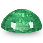 3.47-Carat Oval-Cut Lustrous Intense Green Emerald from Zambia
