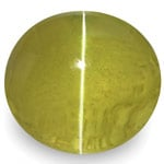 1.96-Carat Deep Yellowish Green Ceylonese Chrysoberyl Cat's Eye
