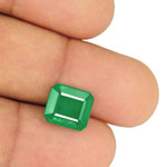 4.64-Carat Rare Eye-Clean Velvety Intense Green Zambian Emerald