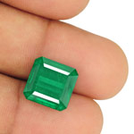 8.90-Carat Impressive Octagon-Cut Deep Green Emerald from Zambia