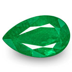 5.44-Carat Fiery Deep Green Pear-Shaped Emerald from Zambia