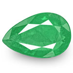 10.05-Carat Pair of Intense Green Pear-Shaped Zambian Emeralds