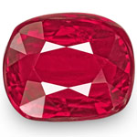 0.99-Carat Unheated Eye-Clean Cushion-Cut Ruby from Mozambique
