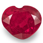 1.84-Carat Unheated Blood Red Heart-Shaped Burmese Ruby (IGI)