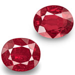 2.17-Carat Pair of Rare GRS-Certified Pigeon Blood Red Rubies