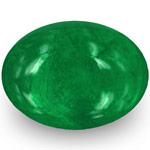 1.28-Carat Natural Cabochon-Cut Deep Green Emerald from Zambia