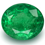 3.82-Carat Beautiful Intense Green Oval-Cut Zambian Emerald