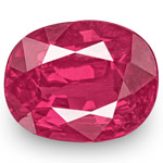 0.95-Carat IGI-Certified Unheated Lively Pinkish Red Ruby