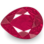 1.04-Carat Unheated Deep Pinkish Red Pear-Shaped Burmese Ruby