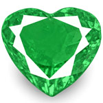 1.74-Carat Bright Green Heart-Shaped Emerald from Muzo, Colombia