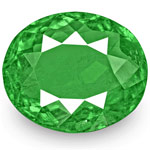 3.34-Carat Oval-Cut Lively Intense Green Emerald from Colombia