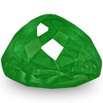 3.67-Carat Cushion-Cut Lustrous Deep Green Emerald from Colombia