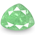 4.37-Carat Triangular Lustrous Pastel Green Colombian Emerald