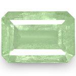 6.15-Carat Pale Green Octagon-Cut Emerald from Colombia