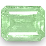 4.76-Carat Octagon-Cut Lustrous Bluish Green Colombian Emerald