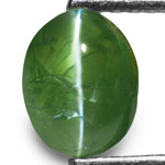 1.65-Carat Deep Green Alexandrite Cat's Eye from Orissa