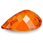 3.43-Carat Beautiful Deep Orange Pear-Shaped Clinohumite