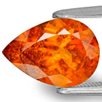 2.87-Carat Bright Neon Orange Clinohumite from Tanzania