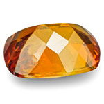 1.04-Carat Eye-Clean Intense Orange Cushion-Cut Clinohumite