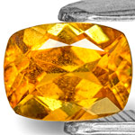 0.81-Carat Yellowish Orange Cushion-Cut Clinohumite