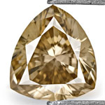 0.48-Carat Fancy Brown Trilliant-Cut Diamond from Australia