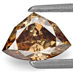 0.78-Carat Lovely Fancy Deep Chocolate Brown Trilliant Diamond