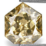 0.49-Carat Fancy Intense Golden Brown Heptagon-Cut Diamond