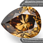 0.33-Carat Natural Fancy Deep Champagne Brown Diamond