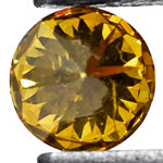 0.07-Carat Brilliant Natural Golden Yellow Diamond (Non-Treated)