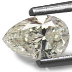 0.51-Carat Pear-Shaped J-SI2 Diamond from Guinea