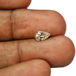 0.50-Carat Light Brown VS2-Clarity Pear-Shaped Diamond